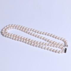康福珠宝  微瑕毛衣链两环扣款8-9mm 天然淡水珍珠