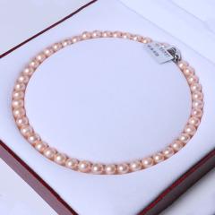 天使之泪珍珠  粉色圆珠 9-10mm