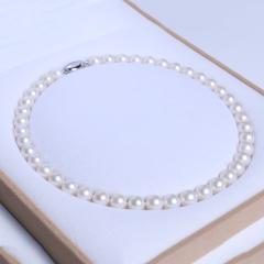 唯珍珠宝 精美珍珠项链 规格10-11 正圆无暇淡水珠项链