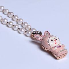 唯珍珠宝 精美珍珠毛衣链  蒙奇奇毛衣链 7-8mm