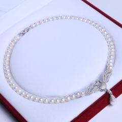 渭塘宝缘阁珠宝  珍珠懒同款项链高大上款 7-8mm 长度45cm
