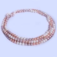 渭塘寶緣閣珠寶  珍珠毛衣鏈彩珠款 經典款 8-9mm長度120cm