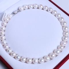 渭塘宝缘阁珠宝  珍珠项链 淡水珍珠项链 塔链型项链