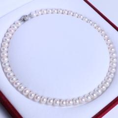 渭塘宝缘阁珠宝  9-10mm淡水珍珠项链