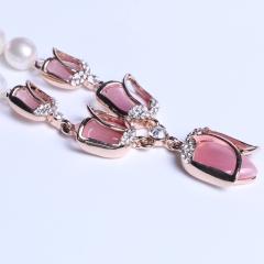 晓燕珠宝  珍珠项链 玛瑙米形项链