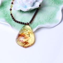 瑞祥琥珀 波罗的海花珀 水滴形挂件 12.5g