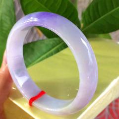 紫羅蘭手鐲  水潤清爽  正圈尺寸:60-15.3-8.3mm