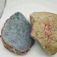 3F144 天然翡翠原石毛料 明料
