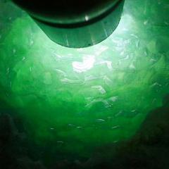 N861 天然翡翠原石毛料 冰种