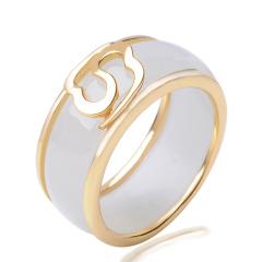 925银镶和田玉戒指 优雅男款玉戒 玉石指环 附证书