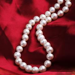 天然淡水珍珠项链送妈妈7-8/9-10mm正品母亲节中秋节礼物 其他 6.5-7.5mm 其他