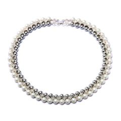 珍珠项链女欧美饰品时尚配饰短款颈链派对宴会礼服女士珍珠锁骨链