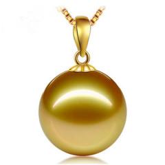 11-12-14-16-17mm天然珍珠吊墜 送鏈珍珠飾品 珍珠項鏈 白色 10-11mm 45cm