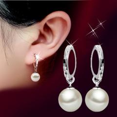 925银珍珠耳扣耳环女韩国时尚流行饰品耳坠耳钩耳饰耳圈礼物配饰 珍珠耳扣耳环 其他