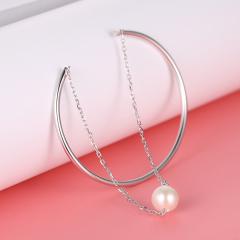 925银淡水珍珠双层手链手镯