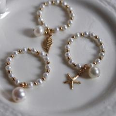 天然淡水珍珠戒指女日韩国正圆饰品朋克个性欧美潮人细小新款 不支持7天无理由退货