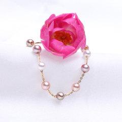 2.5-3淡水珍珠18k金彩色手链 白色 彩色 2.5-3mm 18cm