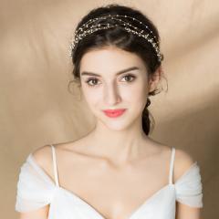 新款新娘头饰韩式结婚发箍饰品超仙发带珍珠配饰婚纱礼服发饰 发带