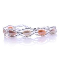珍珠手链 菱形时尚 双排珍珠 款式一 其他
