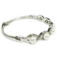 淡水珍珠手镯 珍珠手链 内圈16厘米 白色珍珠款 其他