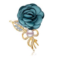 蓝玫瑰 9.5mm时尚潮流珍珠胸针