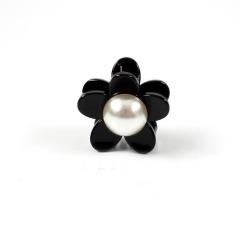 韩国发夹小号抓夹头饰顶夹珍珠简约百搭优雅成人刘海抓夹发卡饰品 大号花朵款 其他