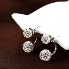 洛莎一款两用日韩时尚s925银耳环女简约耳钉送女友