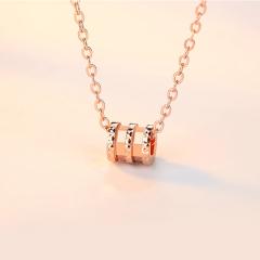 洛莎s925銀項鏈女日韓吊墜時尚鎖骨鏈簡約銀飾品小蠻腰項鏈【網紅款】玫瑰金