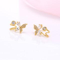 歐維希 簡約925銀耳釘 女韓版時尚銀耳針蝴蝶耳環耳飾品