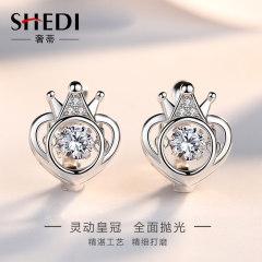奢蒂會動的純銀耳釘女小眾設計感耳環網紅簡約氣質超仙精致小耳釘