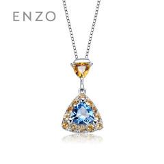 enzo珠寶 商場同款親親抱抱14K金黃晶托帕石吊墜 吊墜(含14K金鏈子)約15個工作日發貨