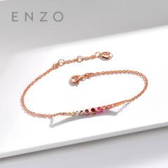 enzo珠宝 商场同款 彩虹之光18K金彩宝碧玺手链