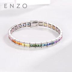 enzo珠寶 商場同款 彩虹之光 18K金碧璽紫晶手鏈