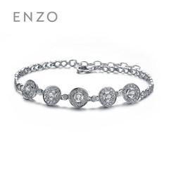 enzo珠寶 商場同款 炫耀 18K金鉆石手鏈正品奢華 16.5cm