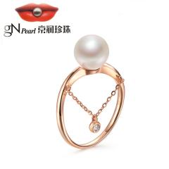 京潤鏈愛 G18K金鑲海水珍珠戒指 8-8.5mm 白色 正圓 白色 約8-8.5mm