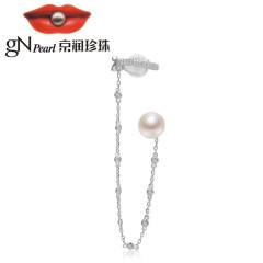 京潤珍珠明媚 S925銀鑲淡水珍珠耳釘 10-11mm 白色 饅頭形 白色 約10-11mm