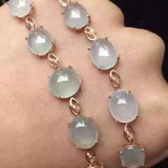 彩霞珠宝  新出高冰蛋手链,完美无瑕,冰透水润,超值单价