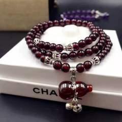 盛瑞特珠宝行  美容养颜三级石榴石手链  5.5mm  葫芦款  福气多多