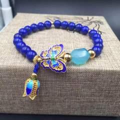 盛瑞特珠寶行  青金石海藍玉髓 景泰藍手鏈