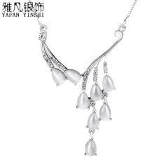 雅凡首饰厂 黄金珠宝 白银 纯银吊坠项链 高4.7cm 宽3.1cm 重4.78克 可批发 1件