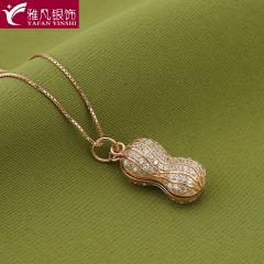雅凡首饰厂 黄金珠宝 白银 纯银吊坠项链 高23cm 宽9cm 重3.7克 可批发 1件