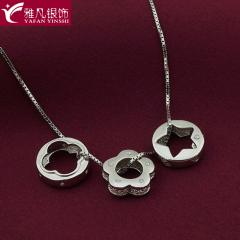 雅凡首饰厂 黄金珠宝 白银 纯银吊坠项链 高10cm重4.4克 可批发 1件