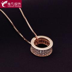 雅凡首饰厂 黄金珠宝 白银 纯银吊坠项链 高11cm宽11cm 重2.9克 可批发 1件