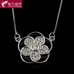 雅凡首饰厂 黄金珠宝 白银 纯银吊坠项链 高16cm宽16cm 重3.6克 可批发 1件