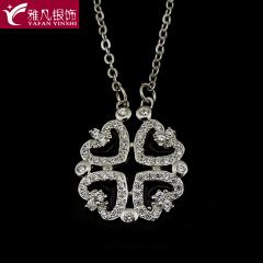 雅凡首饰厂 黄金珠宝 白银 纯银吊坠项链 高20cm宽17cm 重3.6克 可批发 1件