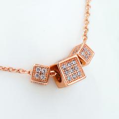 雅凡首饰厂 黄金珠宝 白银 纯银吊坠项链 高6cm宽9cm 重3.4克 可批发 1件