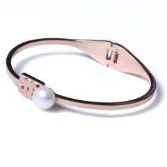 群明珠宝行 时尚饰品 精美珍珠手镯 卡地亚手镯 9-10mm