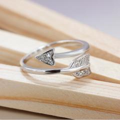 银儿缘 银开口情侣戒指 创意男女活口对戒 韩版饰品戒指 爆款