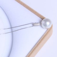 宏峰珠宝工艺厂 精美珍珠吊坠  海水白珍珠 14mm 14K 海水