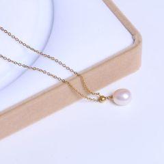 宏峰珠宝工艺厂 精美珍珠吊坠  串珠链珍珠吊坠 925银 9.5mm 淡水珠